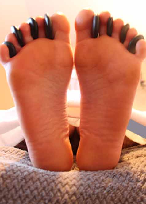 Hot Stone Foot Massage