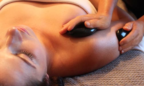 Hot Stone Shoulder Massage